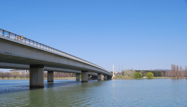 Cycle Paths criss cross Canberra as well as Roads