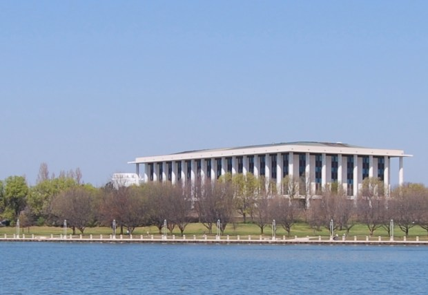 Set on Lake Burley Griffin, the National Library of Australia