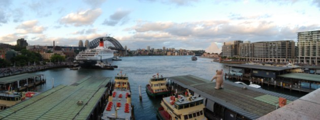 Wide Angle of the Cove, with The Rocks on the left, Sydney Opera House on the right.