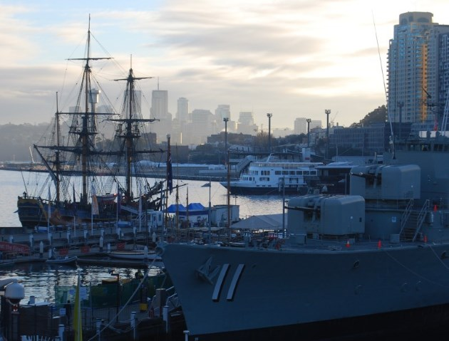 Ships at Darling Harbour at the National Maritime Museum