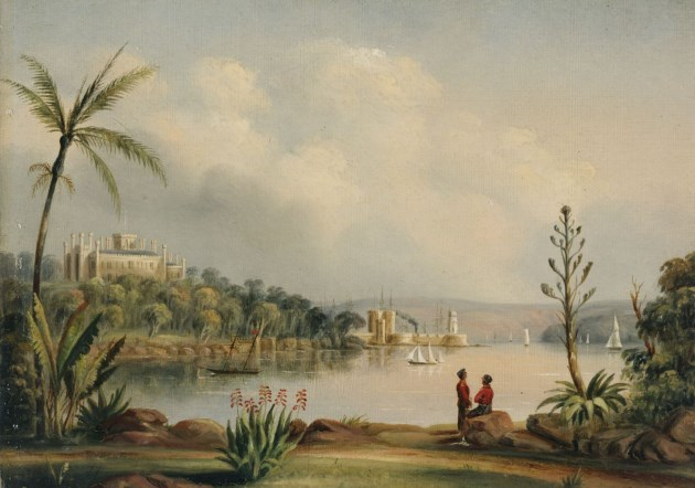 Government House and Bennelong Point, 1845.