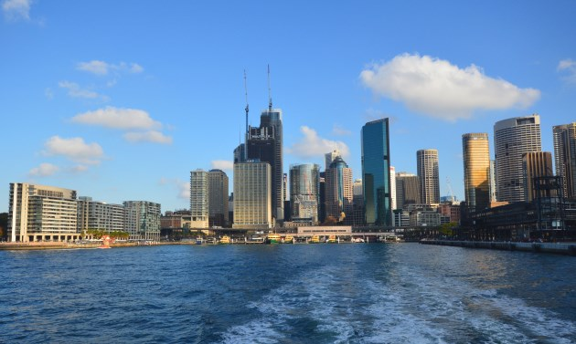View of the City's CBD buildings