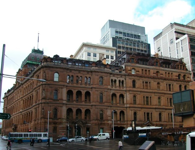 The Colonial Chief Secretary's Building on Phillip and Bridge Streets.