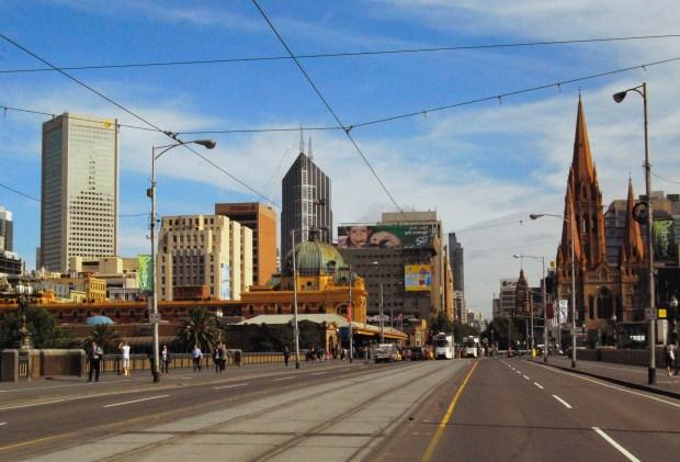 Victoria Bridge in Melbourne Australia