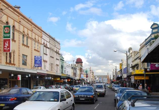 Newtown's ever busy King Street with great Places to Eat