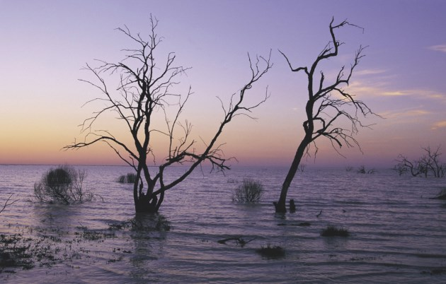 Sunset at Menindee Lakes, Outback NSW.