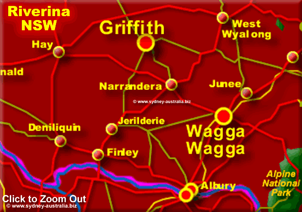 Map of the Riverina Region, NSW