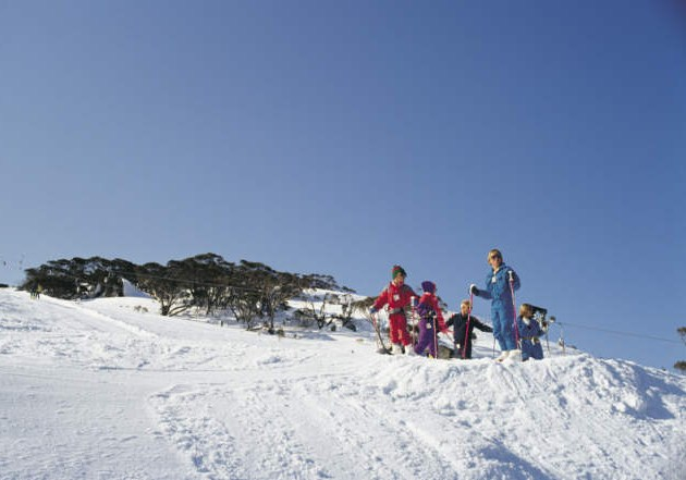 Young Skiers on the snow slopes
