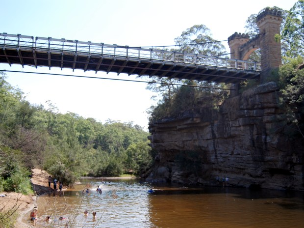 Swimming Hole under the sandstone Hampden Bridge, Kangaroo Valley