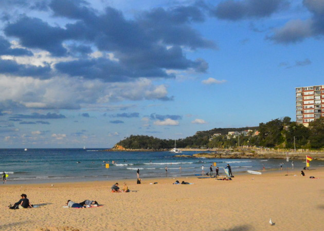 South End of the Beach, with Little Manly Beach in the Background
