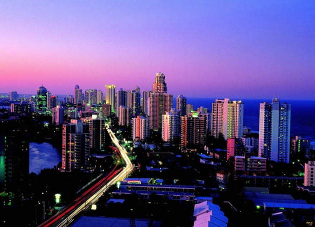 Surfers Paradise with great restaurants, entertainment, great shopping and a very active night life