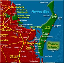 Map of Fraser Island