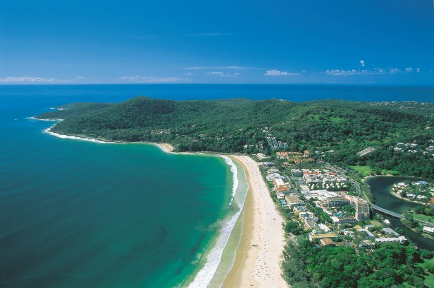 Noosa with the National Park in the Background
