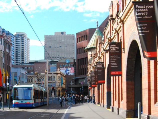 Light Rail will get you here from Central Station and Darling Harbour