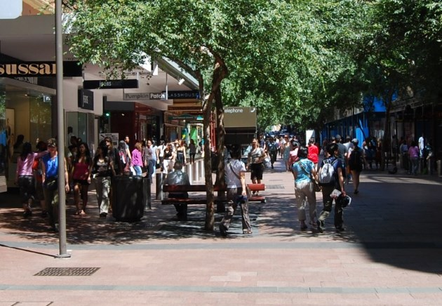 Leafy Pitt Street Mall