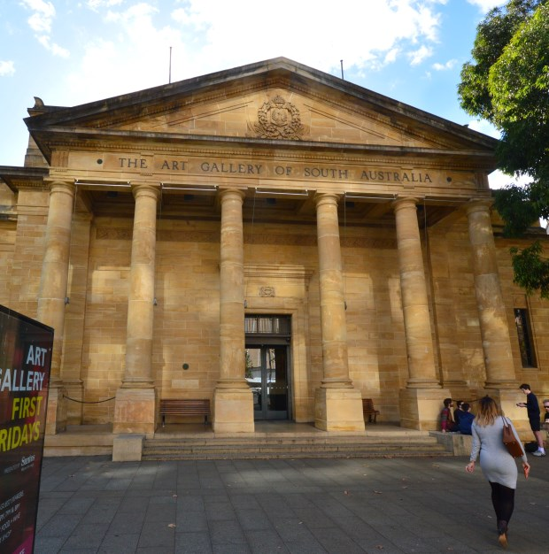 Front Entrance to the Adelaide Art Gallery, North Terrace