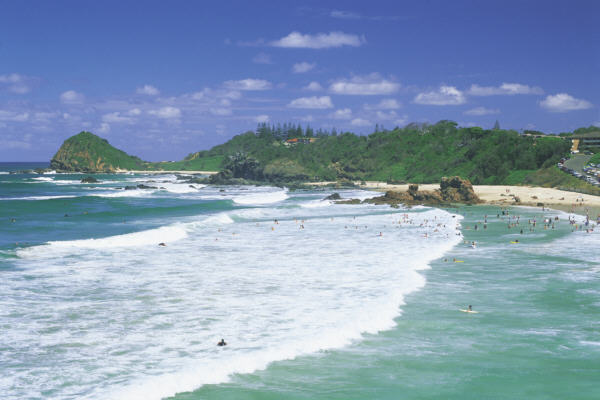 Port Macquarie beach on the North Coast of NSW