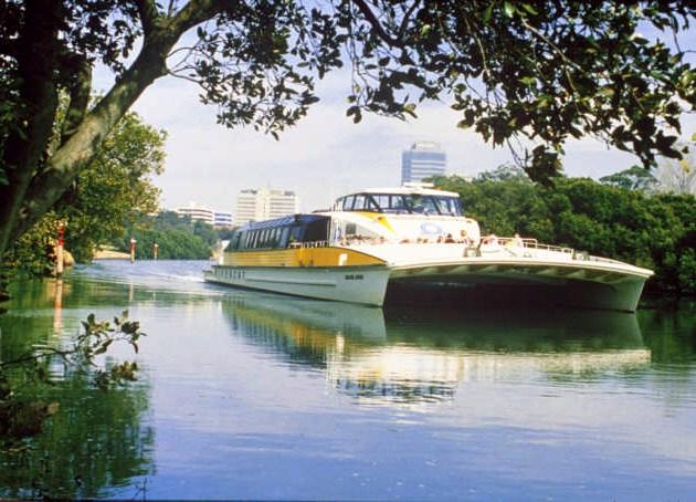 Get to Parramatta via Jetcat for dramatic views of Sydney Harbour
