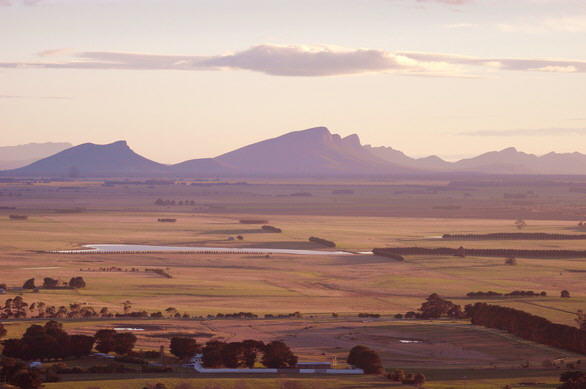 From a distance, The Grampians Ranges.