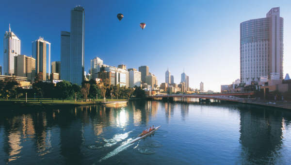 Yarra River and Melbourne City CBD. Photo James Lauritz.