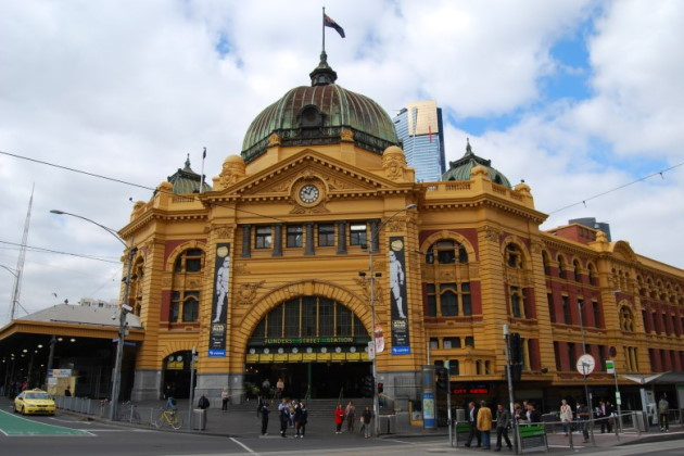 Flinders Street Train Station - Millions pass through these gates every year.