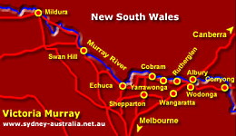 Map of the Murray Region