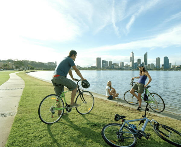 Cycling the Swan River