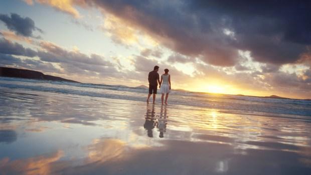 Couple Enjoying the Beach at Esperance