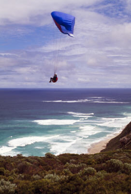 Paragliding on the Coast